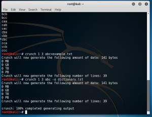 Crear un diccionario de contraseñas en Kali Linux