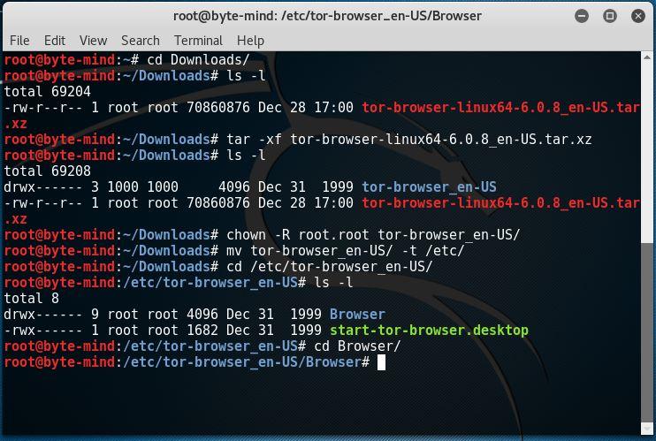 Enmascara tu ip con Tor browser en Kali Linux