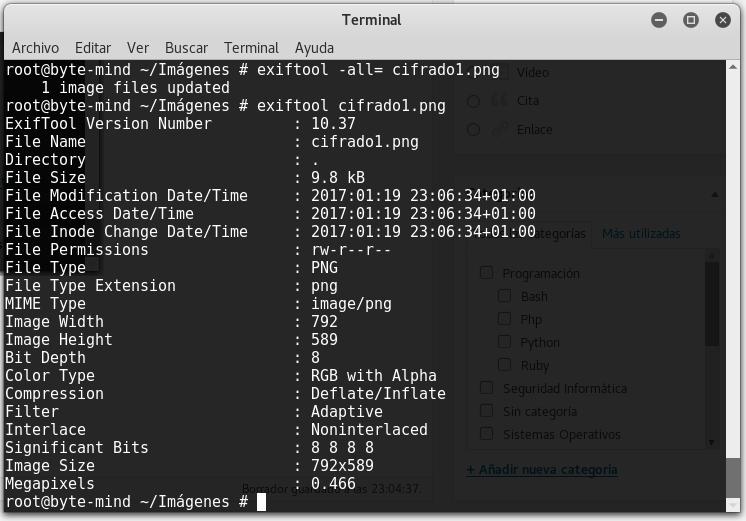 Exiftool, extrae y modifica metadatos en Linux