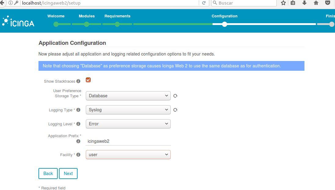 Instalación de Icinga 2 e Icinga web 2 en Ubuntu