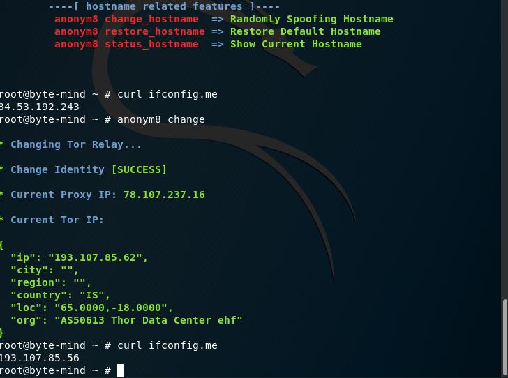 Manteniendo el anonimato en la red con Kali Linux