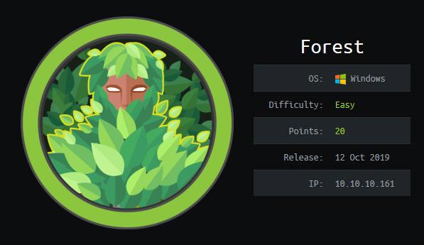 HackTheBox machines - Forest
