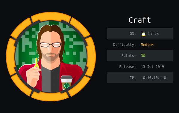 HackTheBox machines - Craft