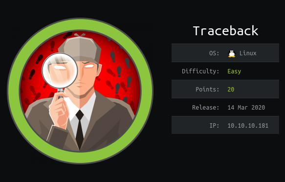 HackTheBox machines - Traceback
