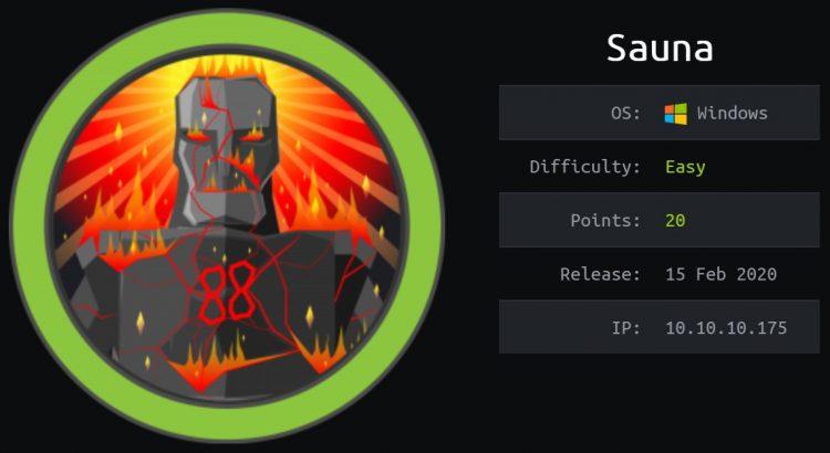 HackTheBox machines - Sauna