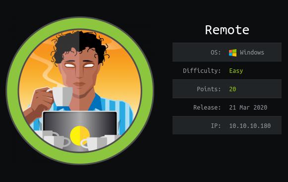 HackTheBox machines - Remote