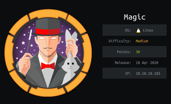 HackTheBox machines - Magic