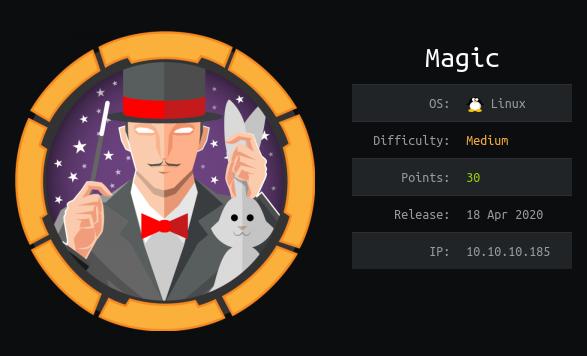 HackTheBox machines - Magic