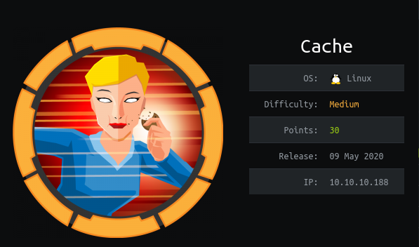 HackTheBox machines - Cache