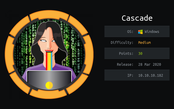 HackTheBox machines - Cascade