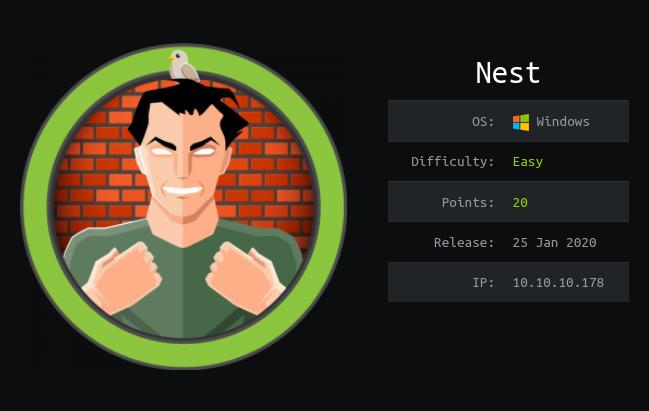 HackTheBox machines - Nest