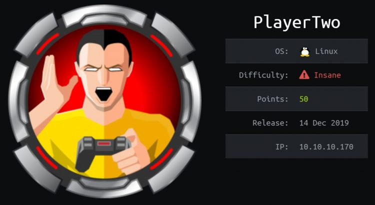 HackTheBox machines - PlayerTwo WriteUp
