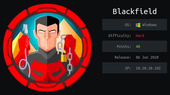 HackTheBox machines - Blackfield WriteUp