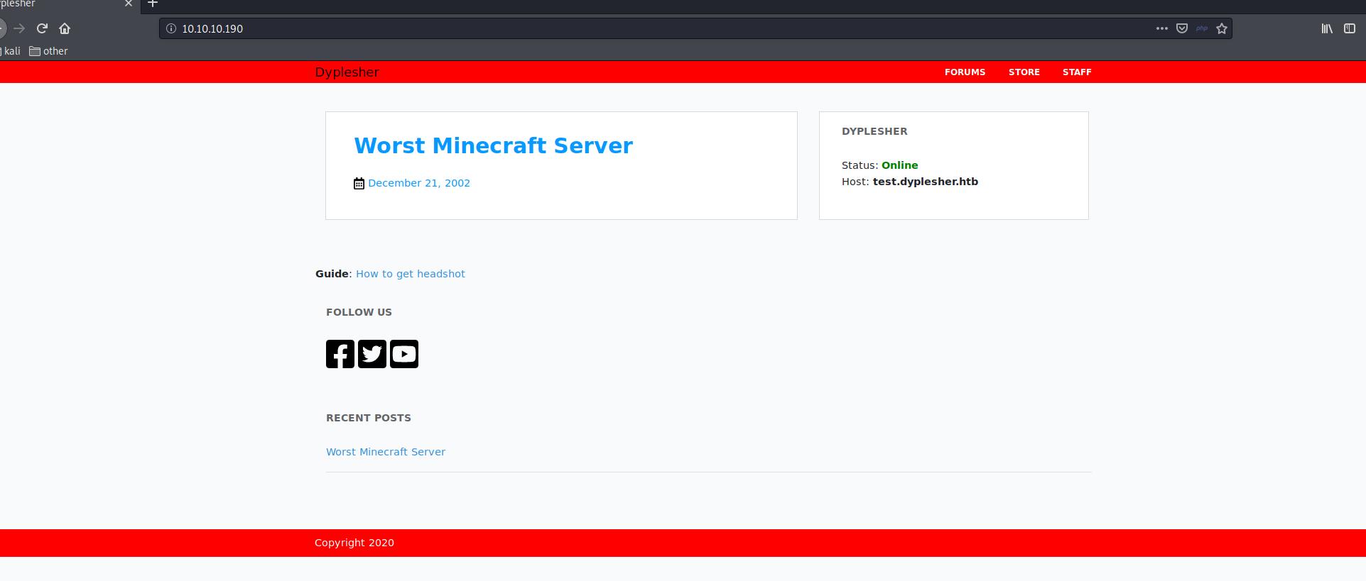 Dyplesher - minecraft server
