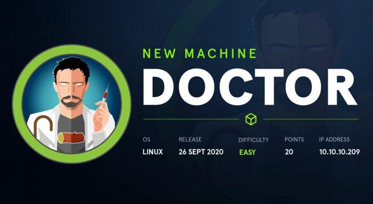 HackTheBox machines – Doctor WriteUp