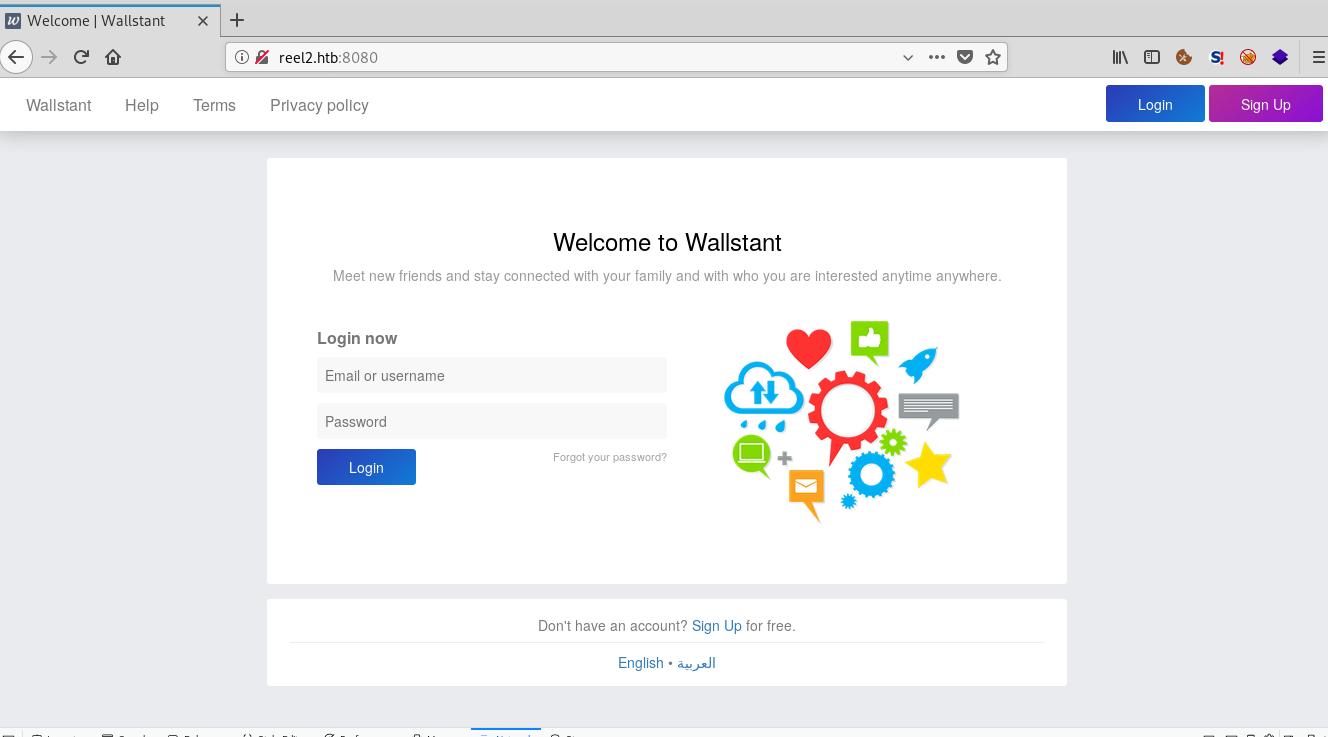 Wallstant social network
