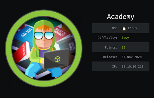 HackTheBox machines – Academy WriteUp