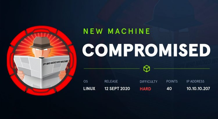 HackTheBox machines – Compromised WriteUp