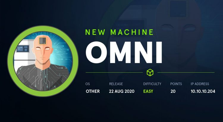 HackTheBox machines – Omni WriteUp