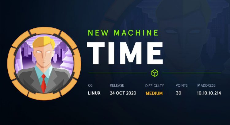 HackTheBox machines – Time WriteUp