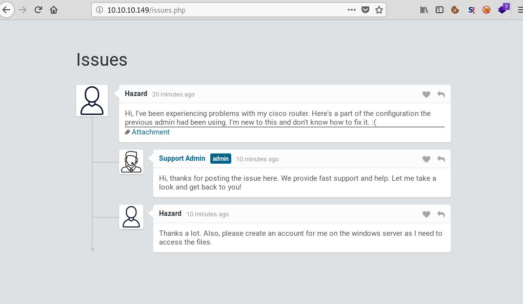 Enumeración del portal web