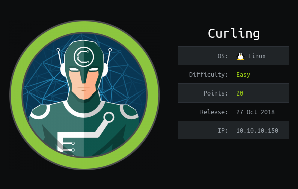 HackTheBox machines – Curling WriteUp
