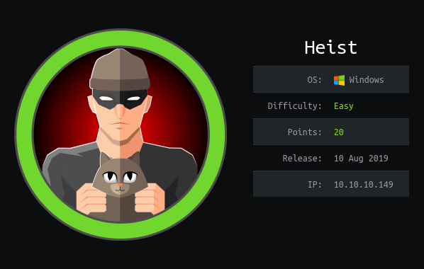 HackTheBox machines – Heist WriteUp